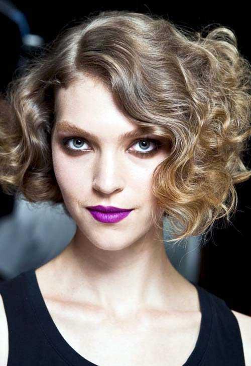 cabelo cacheado com luzes de atriz