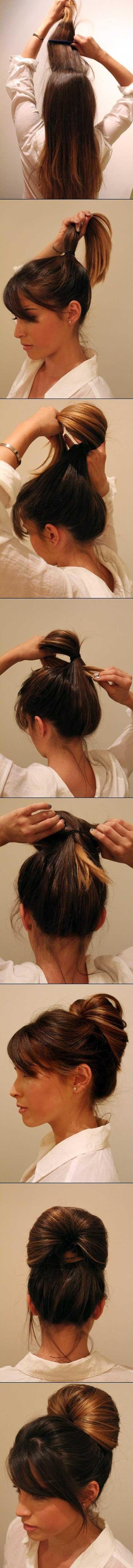 penteado lindo facil de fazer sozinha