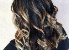 imagens e fotos de cabelos pretos com luzes