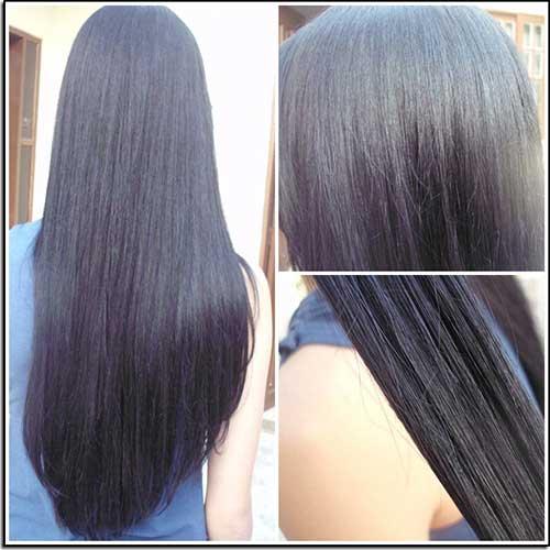 resultado da queratinizacao em cabelos pretos