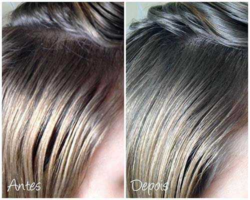 como fica o cabelo ao usar aussie