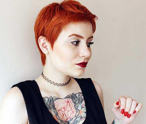 cabelo ruivo avermelhado curto