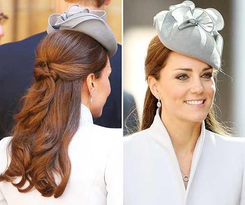 penteado semi preso de princesa
