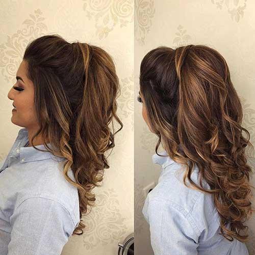 penteado semi preso em cabelo ondulado