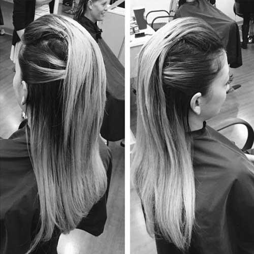 penteado liso semipreso com topete para se formar