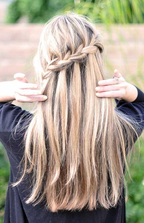 imagem de cabelo com penteado tipo trança cascata