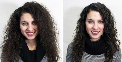 antes e depois de hidrataçao caseira em cabelos cacheados secos com bepantol e maizena