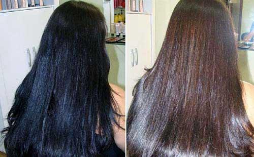 cabelos afetados pela decapagem