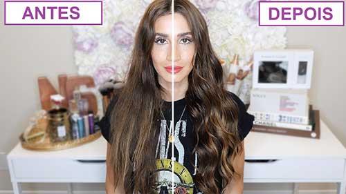 antes e depois de ondular o cabelo em casa com nossas dicas