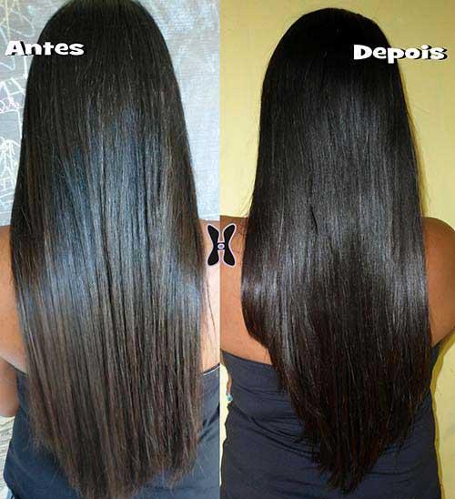 resultados em cabelo preto natural