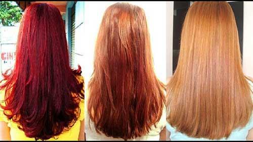 resultados da decapagem no cabelo vermelho