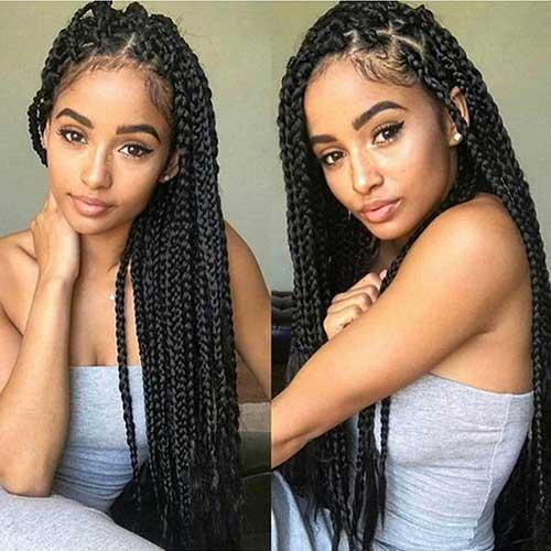 box braids da moda