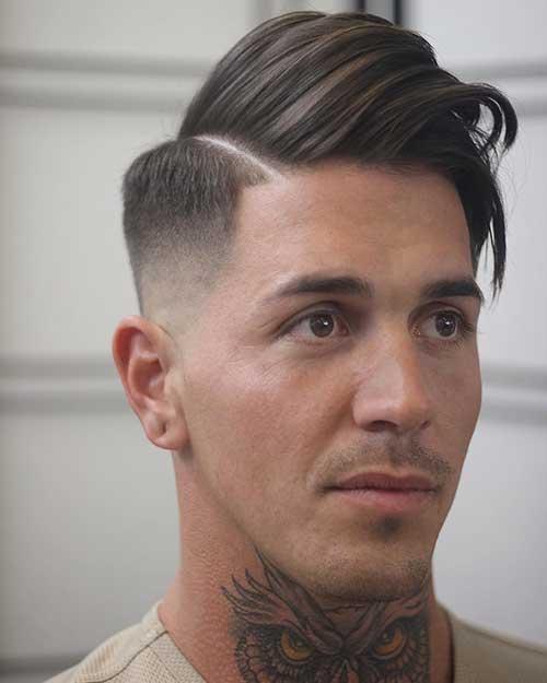 cabelo masculino de lado e alisado