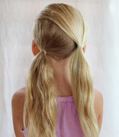 cabelo preso assimétrico para meninas