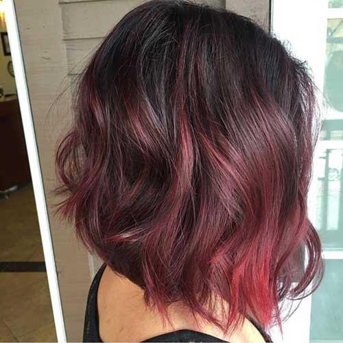 cabelo vermelho escuro com californiana