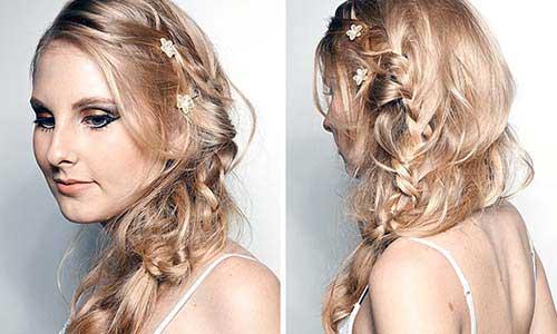 cabelo com franja lateral meio bagunçada