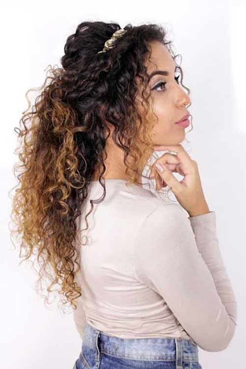 penteado com tiara lindo