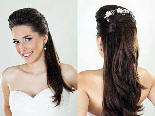 cabelo meio solto pra noiva