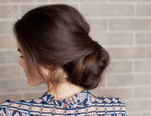 penteado tipo coque romantico e baixo