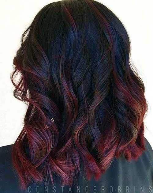 cabelos avermelhados diferentes