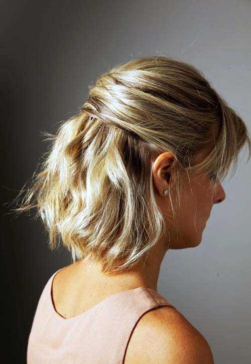 cabelo curtinho meio solto