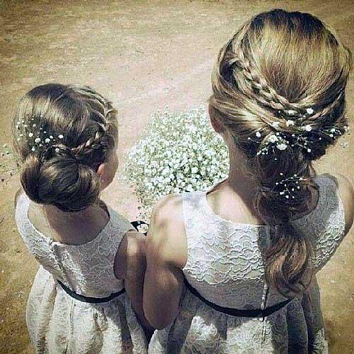 cabelo pra daminha ou florista com apetrecho