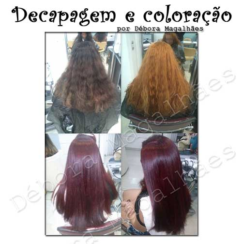 cabelos decapados e coloridos
