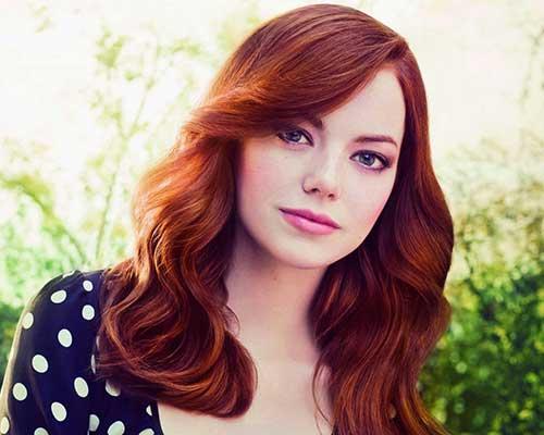 cabelos vermelhos da emma stone celebridade