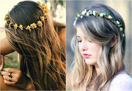 cabelo enrolado na tiara