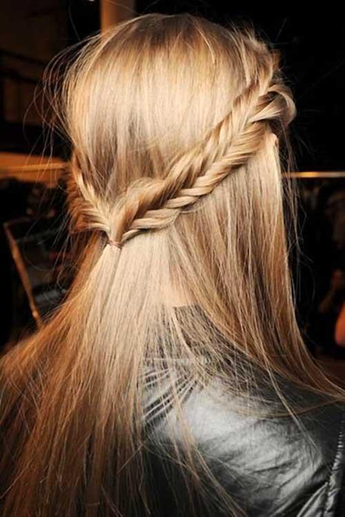 cabelo com trança de verao