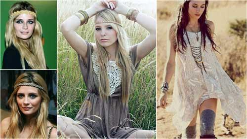 penteados descoloados de hippie
