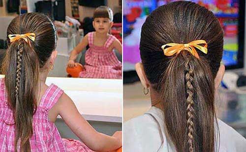 cabelo infantil com laços
