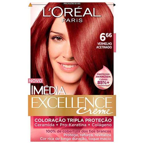 tintura de cabelo loreal 666