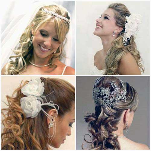 penteado meio solto pra casar