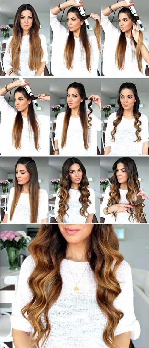 como fazer ondas com babyliss em cabelo comprido - penteado solto fácil!