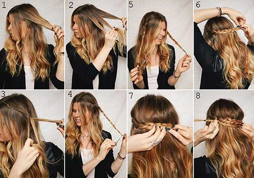 como fazer sozinha penteado comprido