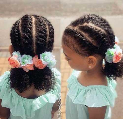 penteado legal para cabelo cacheado ou crespo infantil