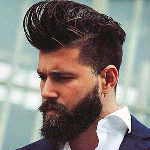 cabelo undercut com barba