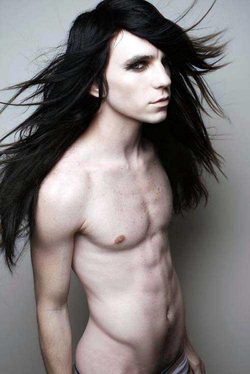 cabelo preto comprido especial