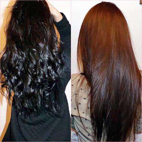 cabelo preto que ficou marrom