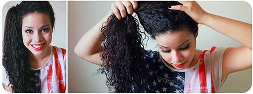 ponytail lateral especial bonito