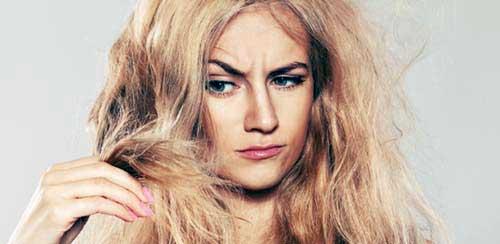cabelo loiro ressecado