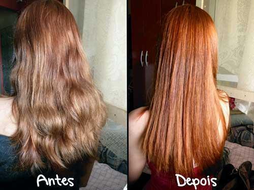 cabelo avermelhado com tonalizante