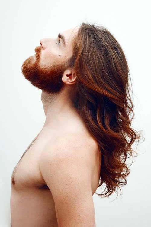 avermelhado com barba