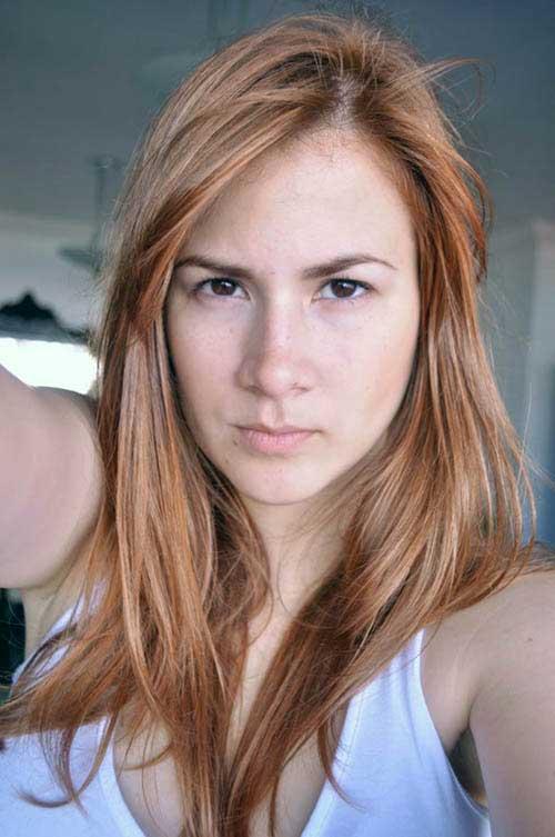 cabelo ruivo puxado pro marrom