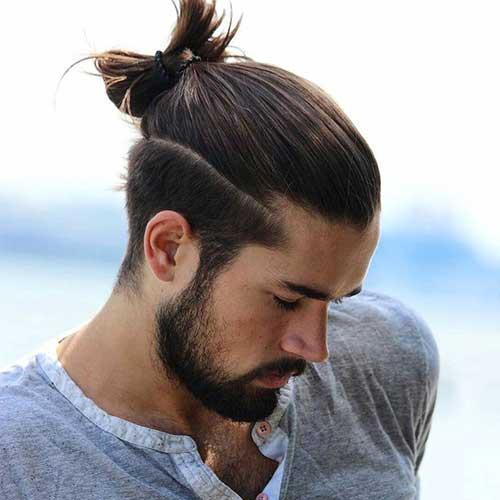 coque samurai masculino em cabelo medio
