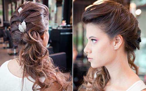 penteado com ondas e acessorios para noivas