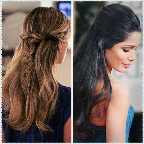 penteado meio solto simples