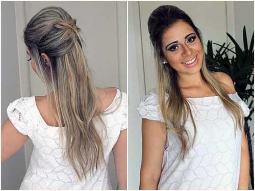 cabelo semissolto e semipreso