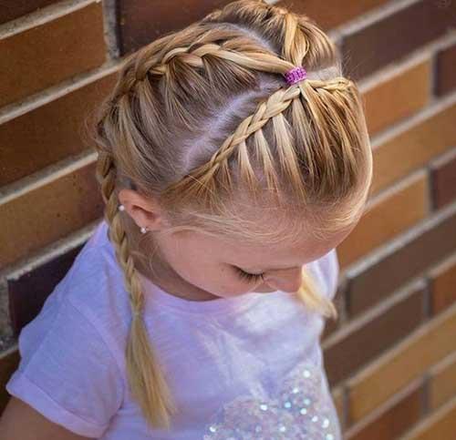 tiara de tranças infantil diferente, ficou linda!